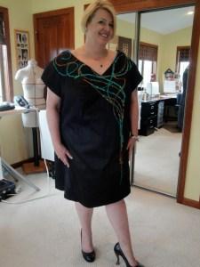 Arlene in black dress