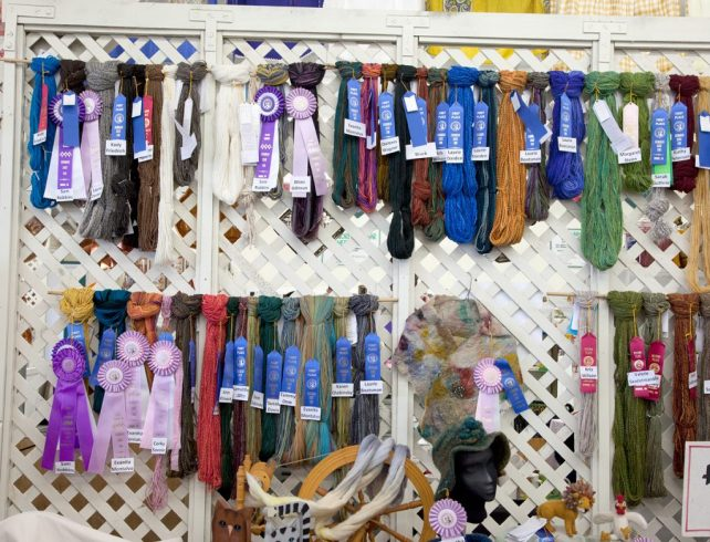 Handspun entries for the Evergreen State Fair