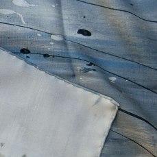 ourlet roulotté main foulard twill de soie