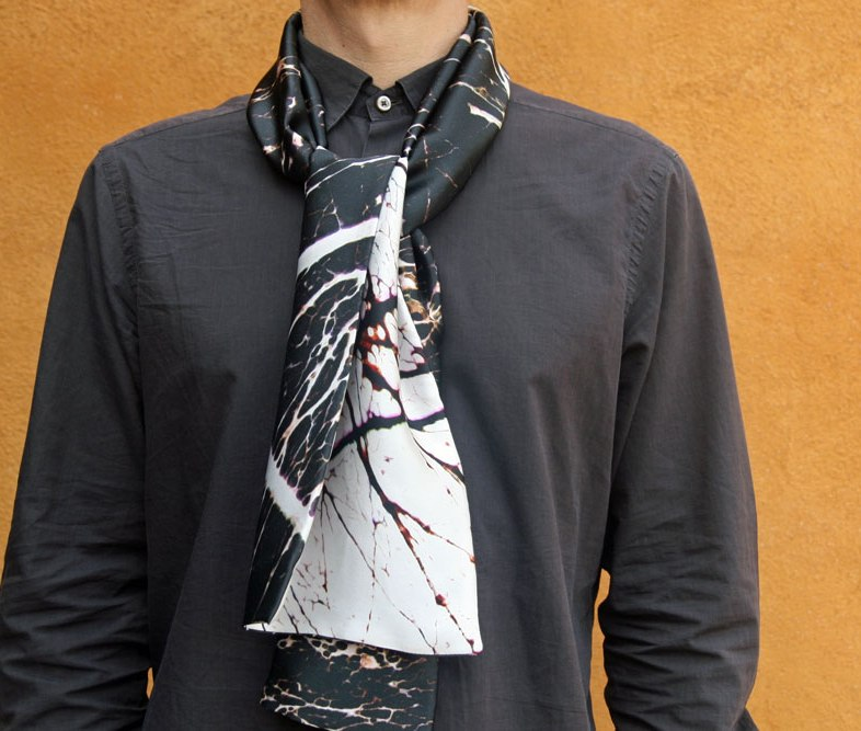 echarpe masculine soie perssnnalisée