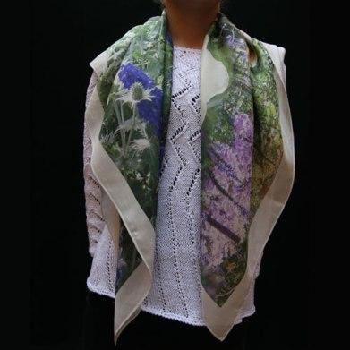 Pañuelo grande 90x90cm en seda habotai.