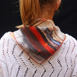 Small square silk scarf printed on demand