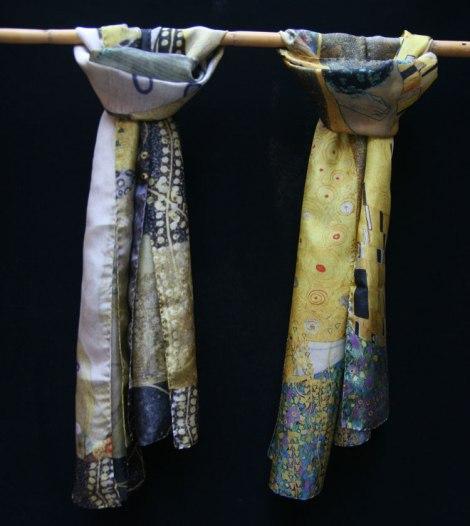 Klimt silk scarves made in Europe - Fibra Creativa