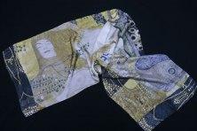 Foulard de soie Klimt Hydre impression de qualité
