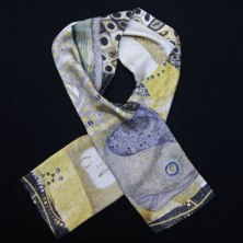 Klimt water snakes man silk scarf