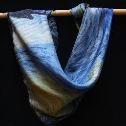 carré soie Van Gogh Nuit étoilée starry night silk scarf