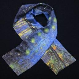 foulard soie homme van Gogh Nuit etoilée