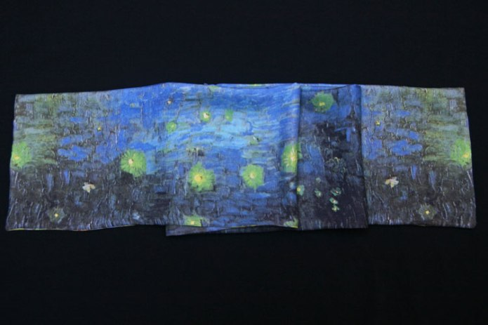 etole soie homme Nuit étoilee van Gogh starry nigh silk scarf for man
