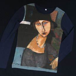 T-shirt all over manches longues Modigliani