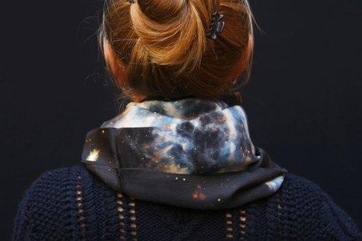 Fibra Creativa snood soie motif espace