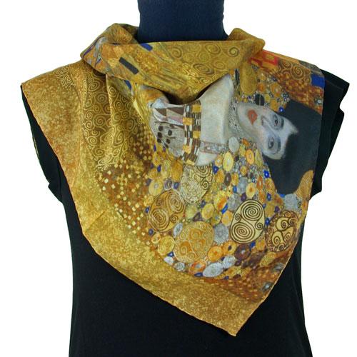 Klimt femme au tableau adele-bloch-bauer foulard de soie
