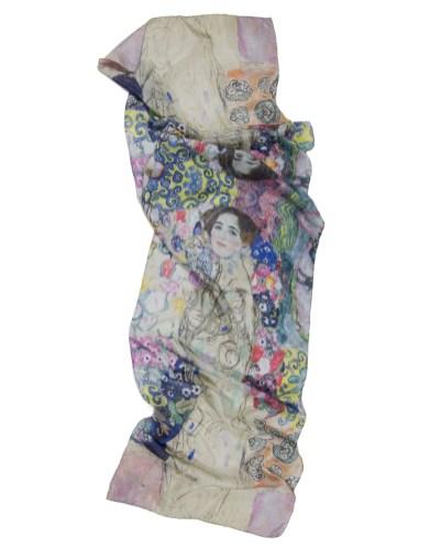 Foulard portrait de Ria Munk soie naturelle Gustav Klimt