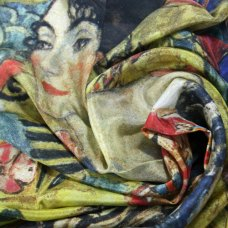 "Pañuelo Klimt ""Dama con un abanico"""