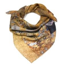 carré Klimt Adele Bloch en soie naturelle