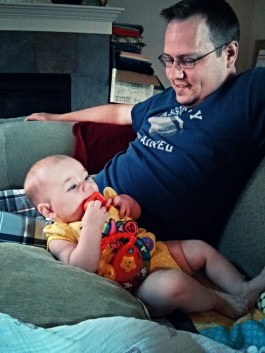 Just kickin' back with Dad
