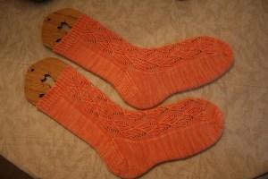 Ribbed Ribbon Socks by Wendy Johnson
