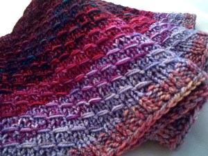 Dipped Infinity Scarf (show here in purples)