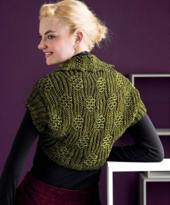 Bird's Nest Shrug - Interweave