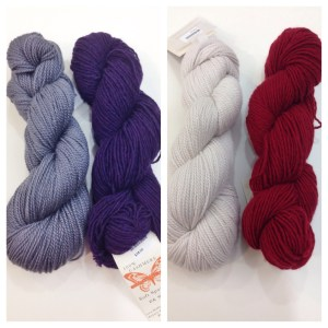 A couple Woolfolk + Pepperberry colorway pairings. But there are so many more!
