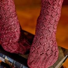 Linaria Bipartita Socks by Hunter Hammersen