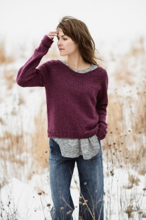 Cromwell Pullover by Bobbi Intveld. (© blue sky fibers)