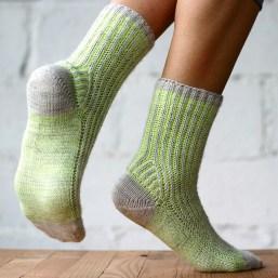 Brioche Toe Up Socks, © Lavanya Patricella