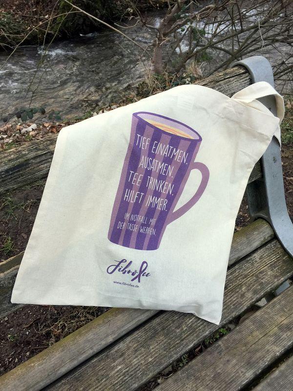FibroFees Tasche auf Bank