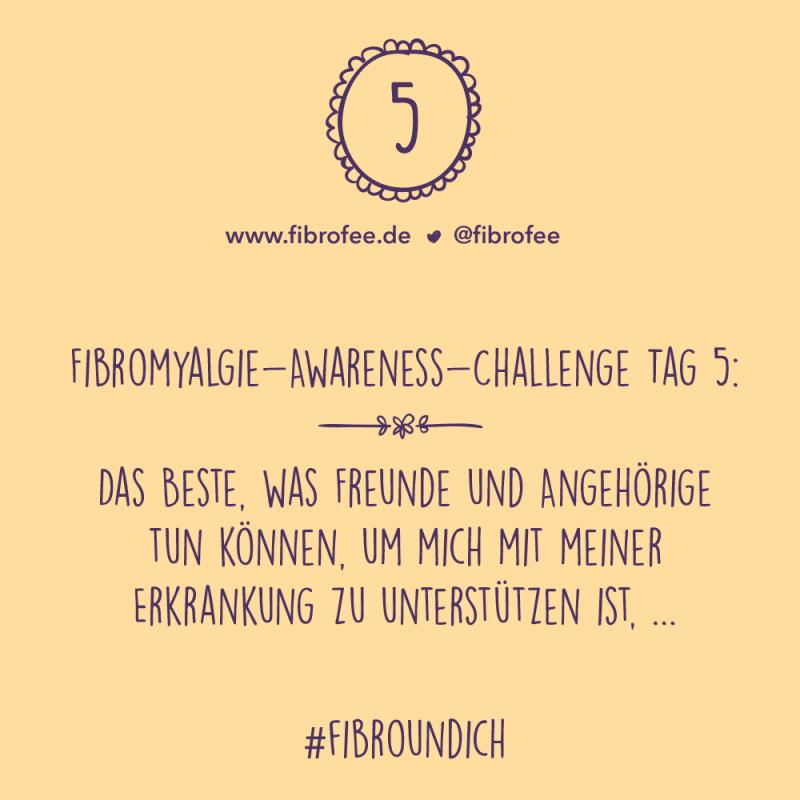 Fibromyalgie Challenge Tag 5