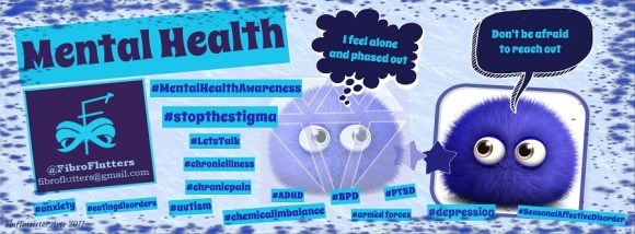 FibroFlutters HQ Mental Health Discussion Group banner with link to page