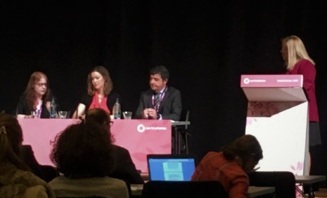 Carole taking part in a panel discussion eyeforpharma Barcelona March 2019