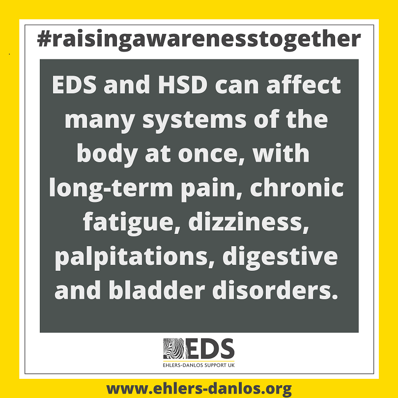 Raising awareness for Ehlers Danlos Syndrome - May 2020 - Ehlers-Danlos Support UK Poster