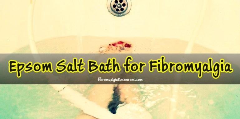 Epsom Salt Bath for Fibromyalgia