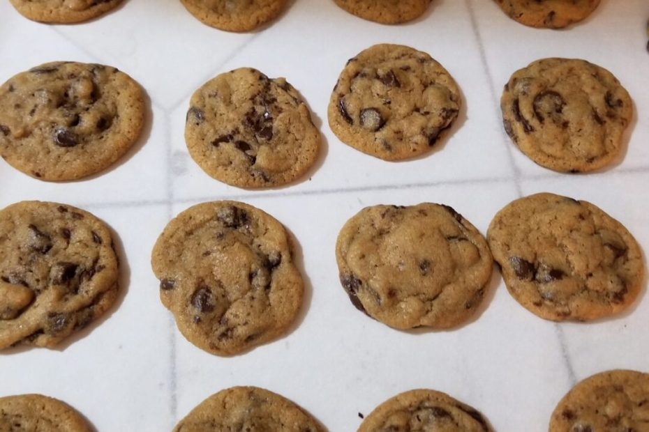 batch of chocolate chip cookies