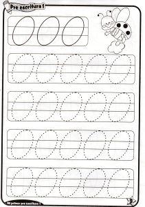 Fichas de grafomotricidad trazos ovalos