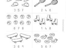 Fichas de actividades con los números para primaria
