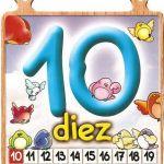 El número diez para niños