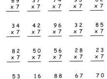multiplicaciones por siete