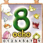 El número ocho para niños