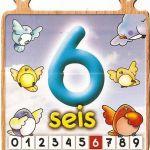 El número seis para niños