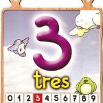 El número tres para niños