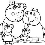 dibujo de la familia de peppa pig