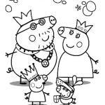 dibujo para colorear de la familia de peppa pig disfrazada