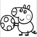 dibujo para colorear de George Pig