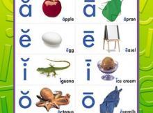 las vocales en inglés para niños