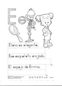 abecedario infantil letra e