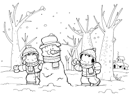 dibujo para colorear del invierno