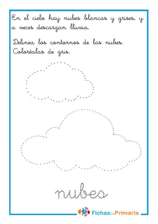 grafomotricidad preescolar trazar nubes
