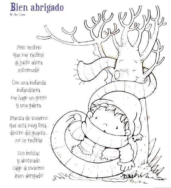 Poemas y rimas del invierno para niños - Fichas de primaria