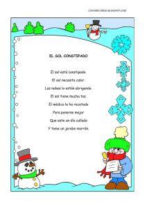 poemas del invierno para preescolar