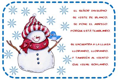 Poemas y rimas del invierno para ni os fichas de primaria - Proyecto el invierno ...